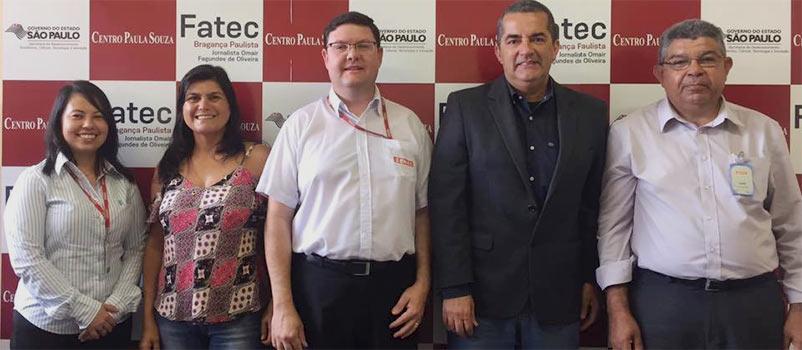 Fatec Bragança recebe a visita do Diretor e Coordenador do Senai de Bragança Paulista