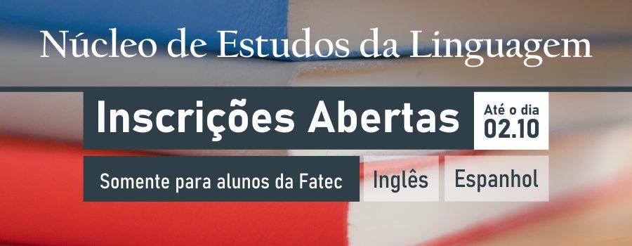 O NELF da Fatec Bragança Paulista está com inscrições abertas para cursos de linguagens